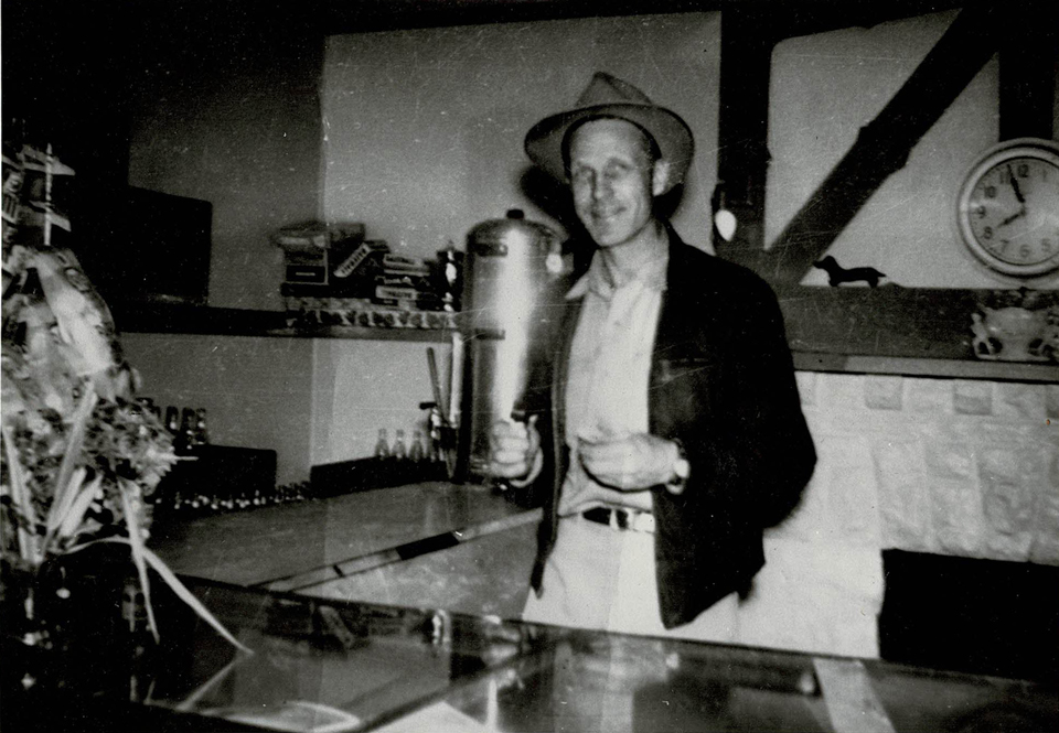 Kenneth Abbott Clark, father of Karen Erdman of Iles Park, works in the Iles Park Concession Stand during ball games circa 1953 The concession stand was located in what is now the open-air pavilion in Iles Park. Clark's sister-in-law was the granddaughter of Elijah Iles' brother. Thanks to Karen Erdman for the photo!