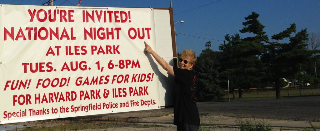 National Night Out August 1, 2017 - Polly Poskin, President Harvard Park Neighborhood Association