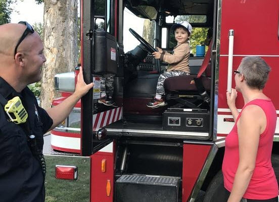 Harvard Park & Iles Park National Night Out 2017 - fire truck