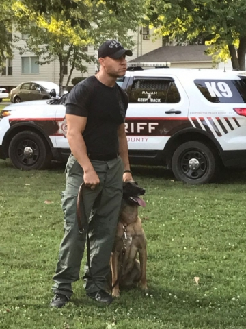 Harvard Park & Iles Park National Night Out 2017 - K-9 demonstration.