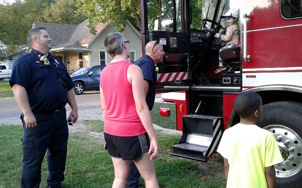 Harvard Park & Iles Park National Night Out 2017 - firetruck!