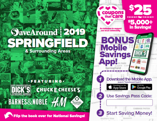 The Iles Park Neighborhood Association is selling SaveAround coupon books as a fundraiser. The books have over $5,000 in savings and are valid through December 2019.