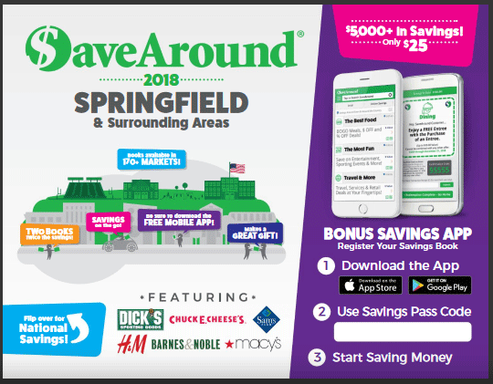 Iles Park is selling SaveAround coupon books.